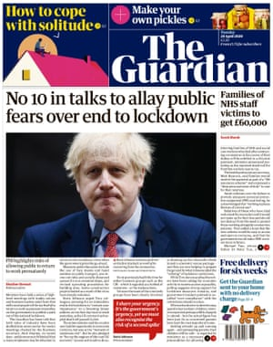 Guardian, portada, martes 28 de abril de 2020