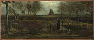 Pintura de Vincent van Gogh El jardín del presbiterio en Nuenen en primavera.