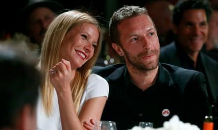 Gwyneth Paltrow y Chris Martin en 2014