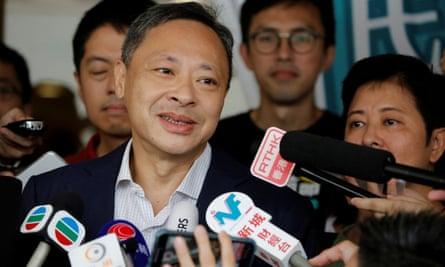 Benny Tai, un líder del movimiento paraguas que fue arrestado el martes.