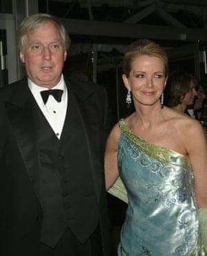 Robert y Blaine Trump en la Gala de Primavera anual en el Metropolitan Opera House, Nueva York, 2005.