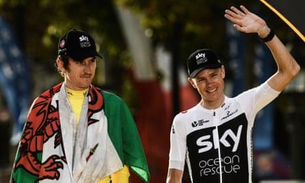 Geraint Thomas (izquierda) y Chris Froome ganaron el Tour de Francia bajo el manto del Team Sky.