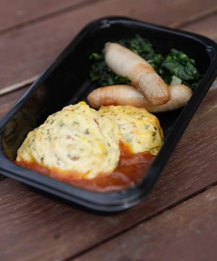 Un desayuno - buñuelos de batata - de Gate Gourmet.