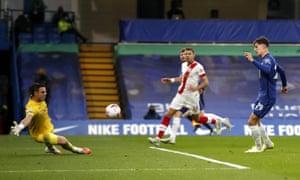 Havertz vence a McCarthy para marcar el tercer gol del Chelsea