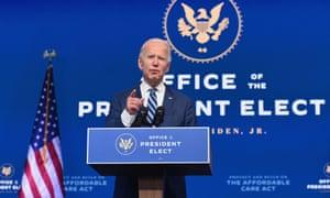 Joe Biden pronuncia un discurso.