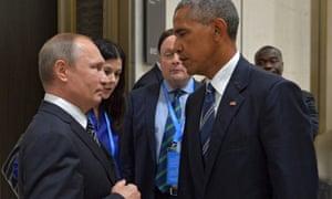 Vladimir Putin se reúne con Obama al margen de la cumbre del G20 de 2016 en Hangzhou, China