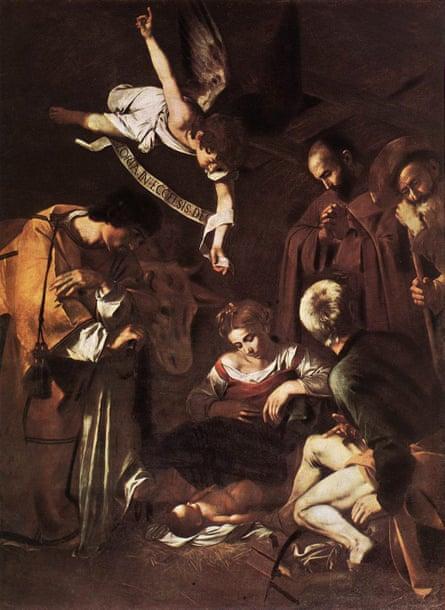 Natividad con San Francisco y San Lorenzo 1609.