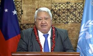 Tuilaepa Sailele Malielegaoi, primer ministro de Samoa, le ha dicho a la nación que mantenga la calma después de su primer caso de Covid.