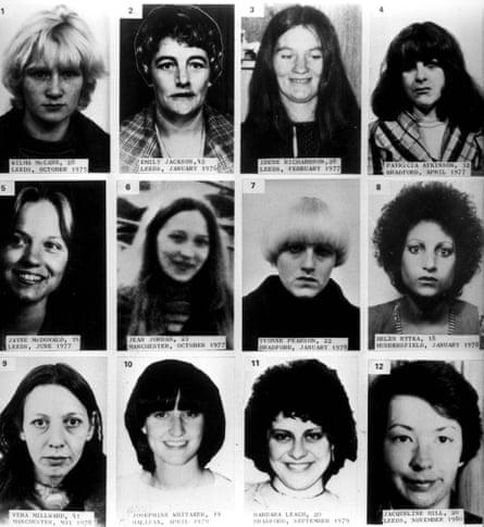 Doce víctimas de Peter Sutcliffe, asesinado entre octubre de 1975 y noviembre de 1980