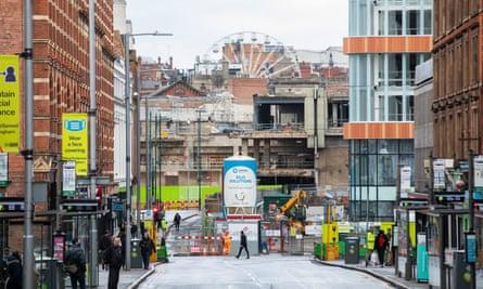 El demolido Broadmarsh Center en Nottingham