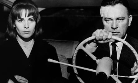 Claire Bloom y Richard Burton en la versión cinematográfica de The Spy Who Came From The Cold, 1965, dirigida por Martin Ritt.