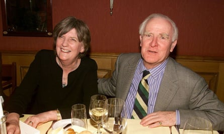 John le Carré y su esposa, Jane, en el Festival de Cine de Berlín, 2001.
