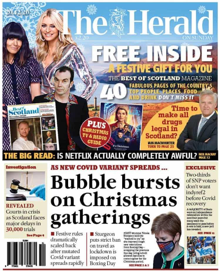 The Herald el domingo 20 de diciembre de 2020