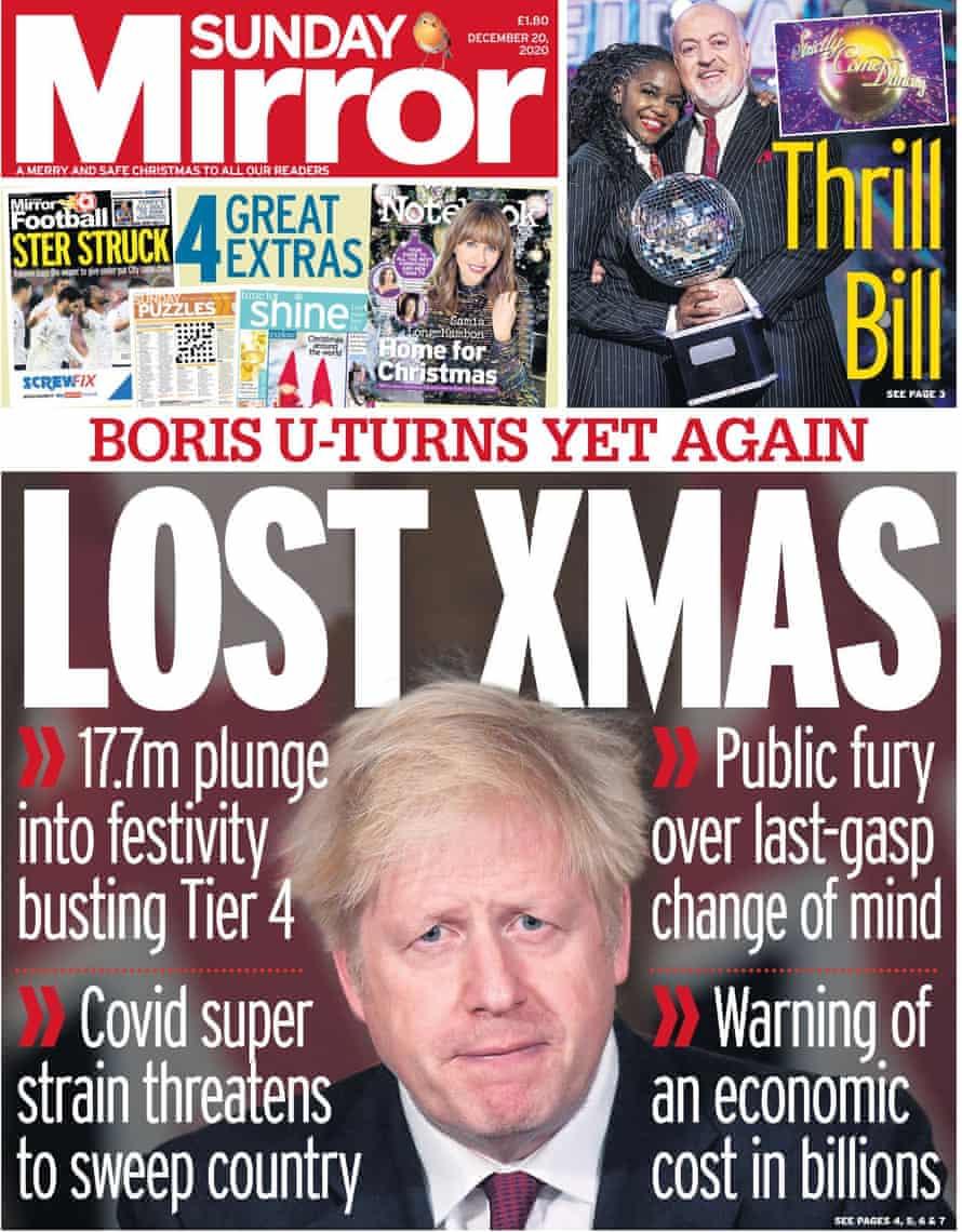Mirror, domingo 20 de diciembre de 2020