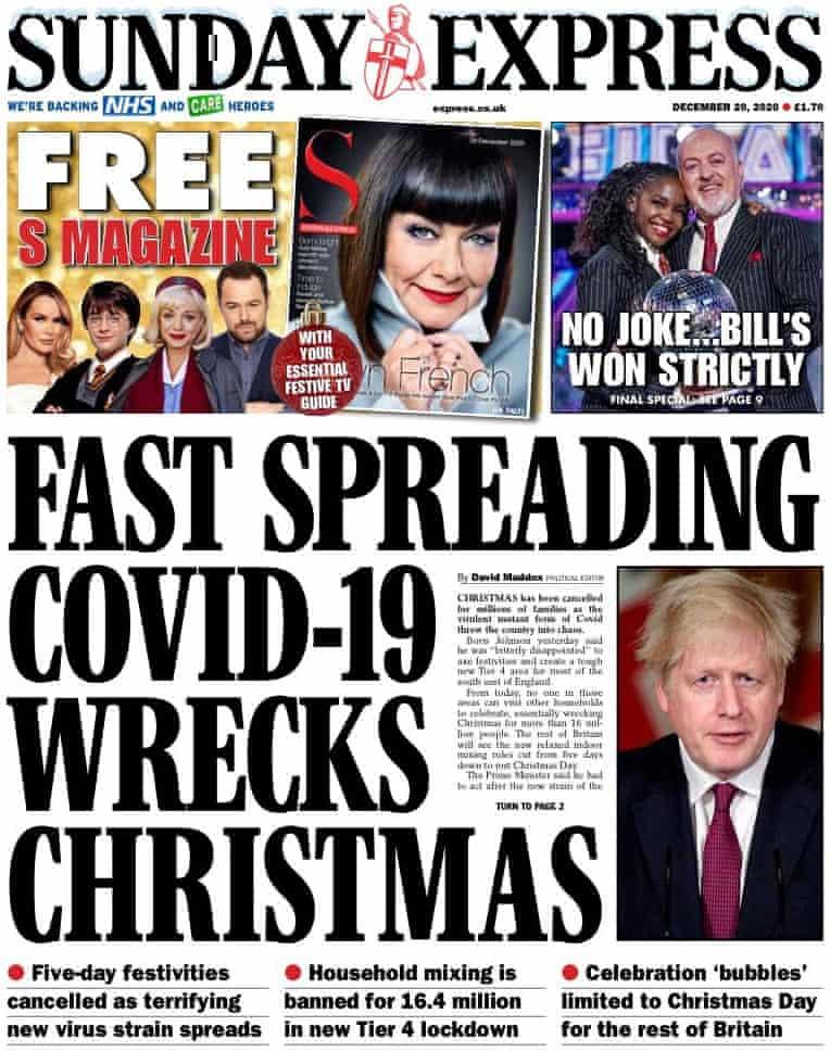 Sunday Express, 20 de diciembre de 2020