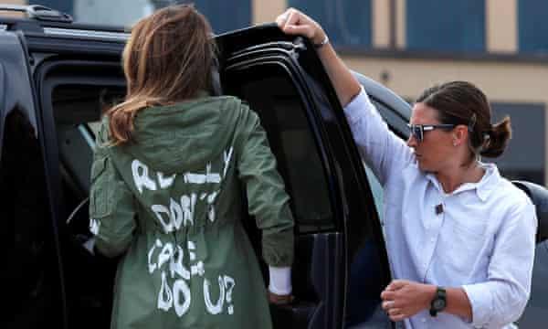 Melania Trump lleva puesto