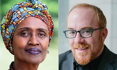 Winnie Byanyima, directora ejecutiva de ONUSIDA y subsecretaria general de las Naciones Unidas, y Matthew Kavanagh, director de la Iniciativa de Política y Políticas de Salud Global en el Instituto O'Neill de la Universidad de Georgetown.