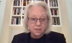 Kathe Sackler testifica por video durante una audiencia virtual del Comité de Supervisión de la Cámara de Representantes de los Estados Unidos.