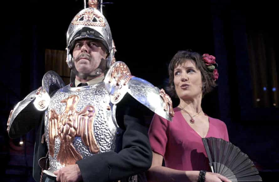 Harriet Walter con Nicholas Le Prevost en Much Ado About Nothing en RSC en 2002