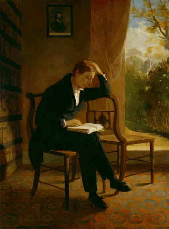 John Keats, fechado en 1821, por Joseph Severn (1793–1879), en la National Portrait Gallery, Londres,