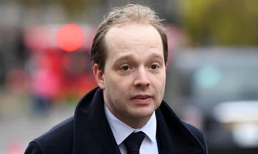 Oliver Lewis, quien ha dimitido como jefe de la unidad de Boris Johnson responsable de mantener la unidad del Reino Unido.