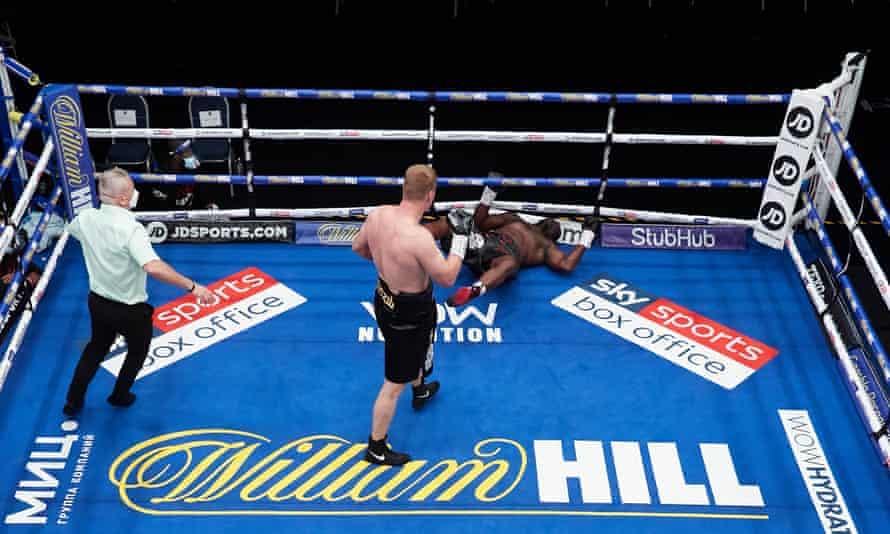 Whyte fue noqueado por un devastador uppercut de Alexander Povetkin en el quinto asalto de su pelea en agosto pasado.