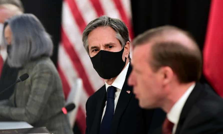 De izquierda a derecha, el secretario de Estado de Estados Unidos, Antony Blinken, y el asesor de seguridad nacional de Estados Unidos, Jake Sullivan.
