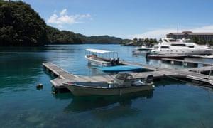 Embarcaciones en el puerto de la isla de Palau, donde el turismo representaba casi el 50% de la economía antes de la pandemia Covid-19
