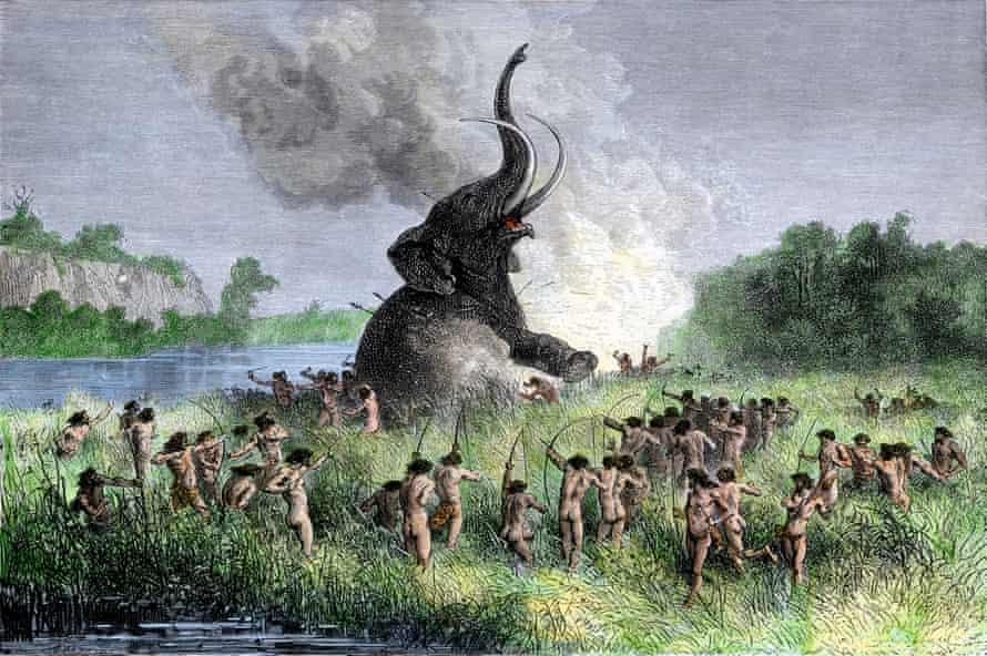Cazadores prehistóricos de mamuts lanudos