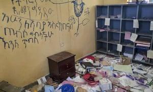 Centro de salud saqueado en Debre Abay, Tigray