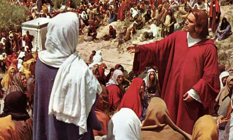 Jeffrey Hunter como Jesús en King of Kings