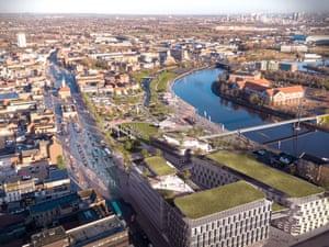 Stockton-on-Tees Green Space Plan CGI.