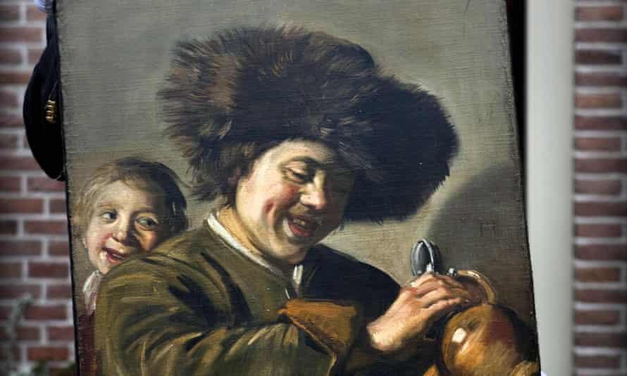 Detalle de Two Laughing Boys de Frans Hals.