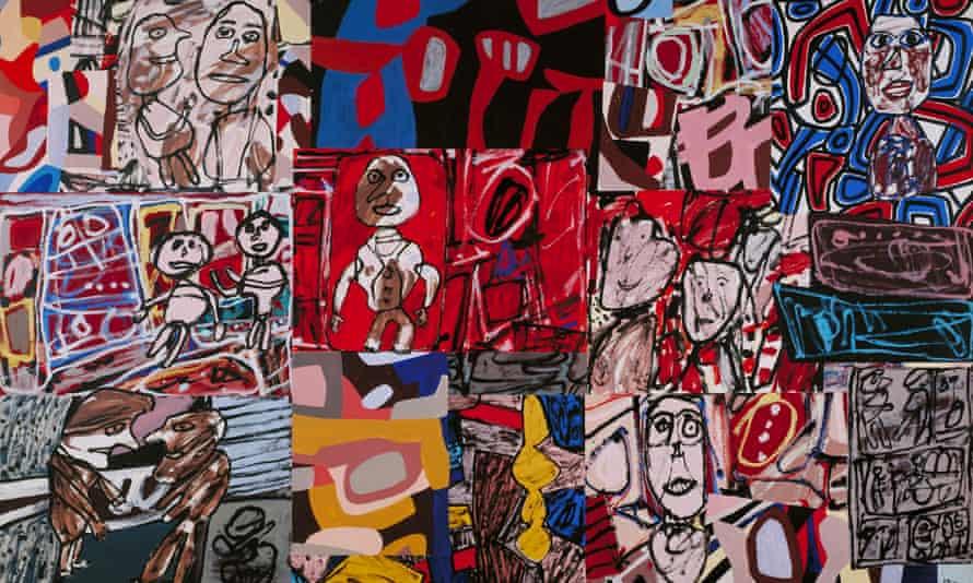 Obra de Jean Dubuffet Vicissitudes, de 1977