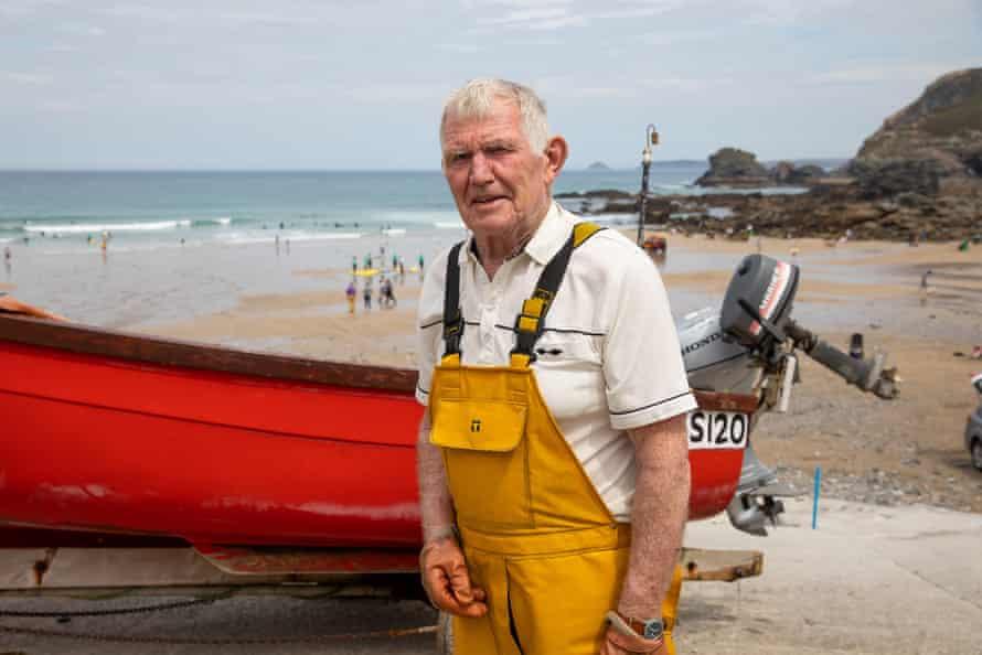 David Bliss, un pescador local en St Agnes.