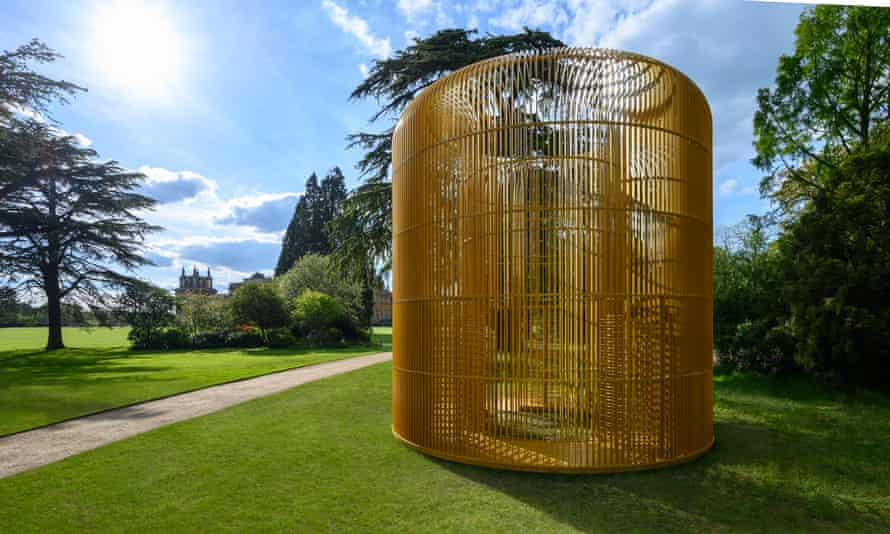 Jaula de oro en el jardín sur del Palacio de Blenheim.