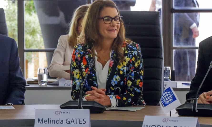 Melinda Gates asiste a la reunión de Finanzas del G7 en Chantilly, al norte de París, en 2019.