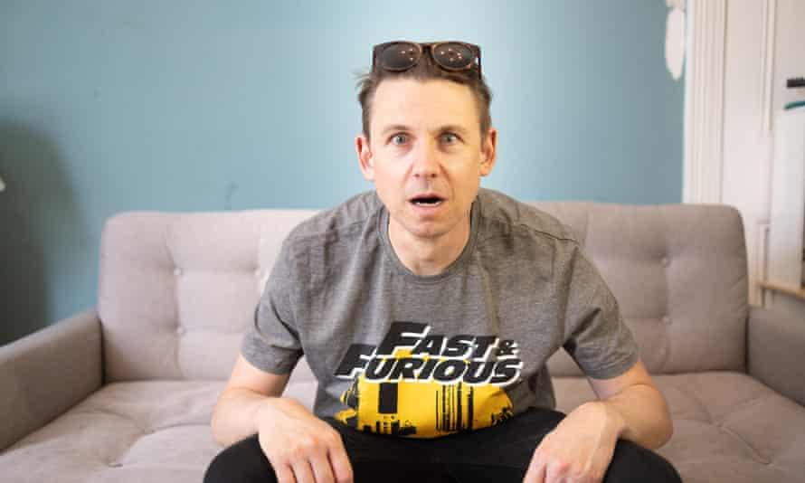 JUNE_London: Tim Jonze, que se emborrachará con las primeras 8 películas de Fast and Furious seguidas. (Fotografía de Graeme Robertson)