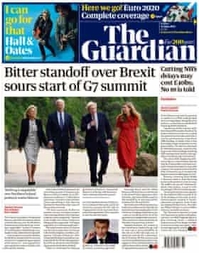 Portada de The Guardian viernes 11 de junio de 2021