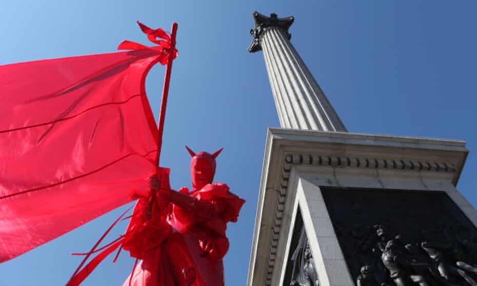 Izzy Yon's Monument Walk I en Trafalgar Square, como parte del programa Galatea.