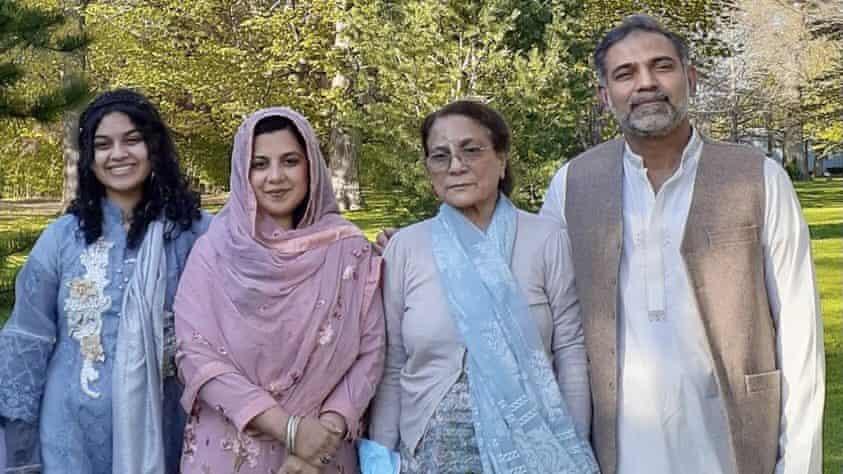 De izquierda a derecha: Yumna Afzaal, Madiha Salman, Talat Afzaal y Salman Afzaal murieron cuando un hombre golpeó con su camioneta.