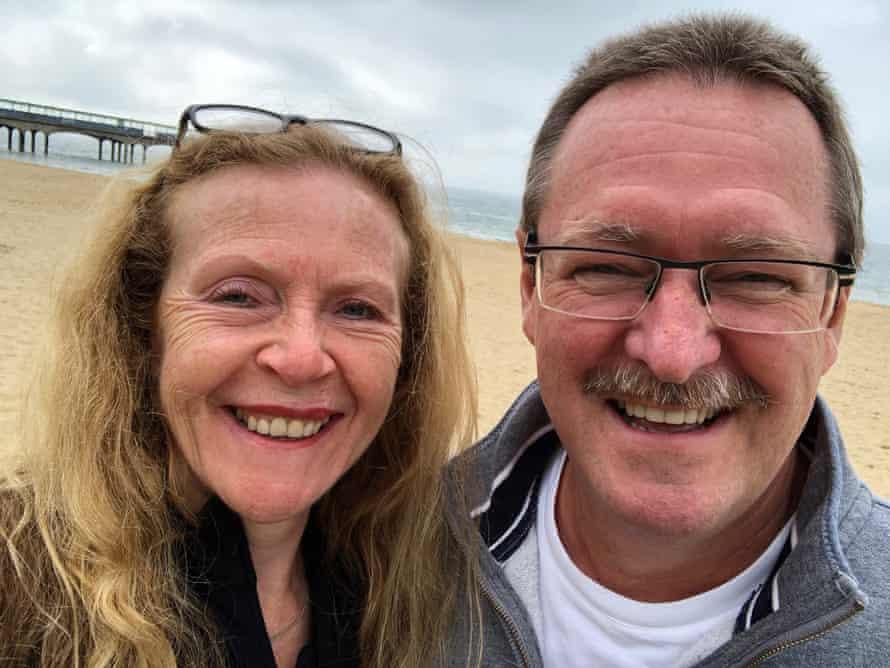 David y Lynne Cross durante el fin de semana festivo de mayo de 2021.
