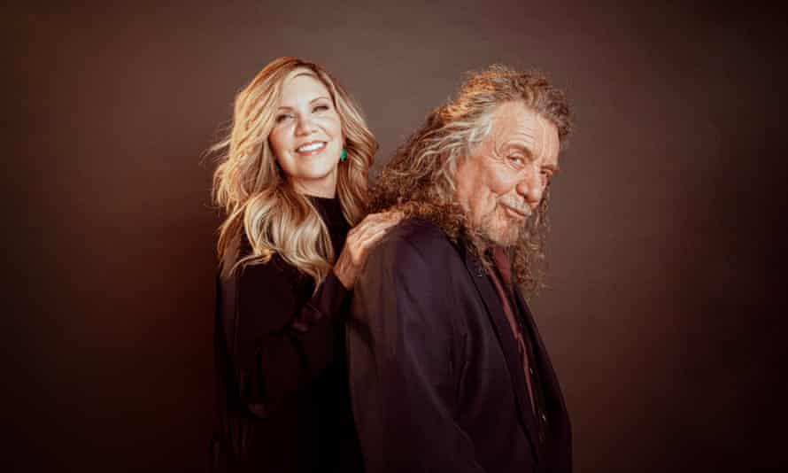 Robert Plant y Alison Krauss fotografiados en el Sound Emporium en Nashville TN 2021