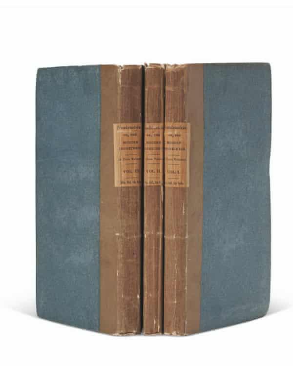 Primera edición de Frankenstein por Mary Shelley