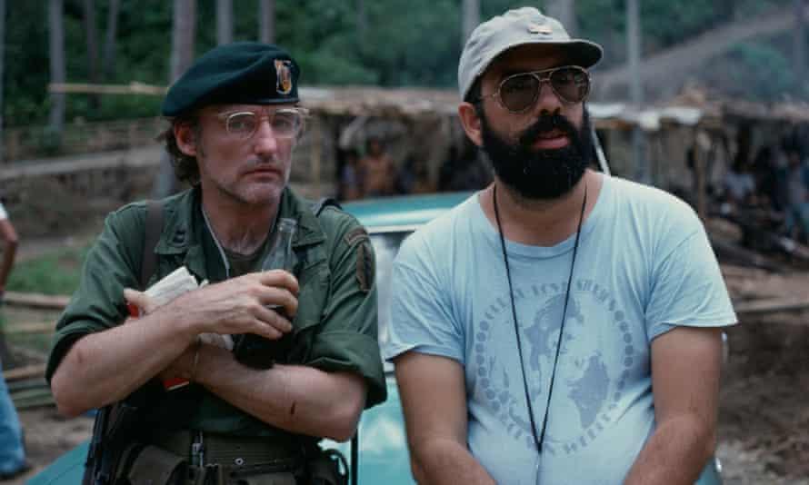 Dennis Hopper y Francis Ford Coppola en el set de Apocalypse Now.