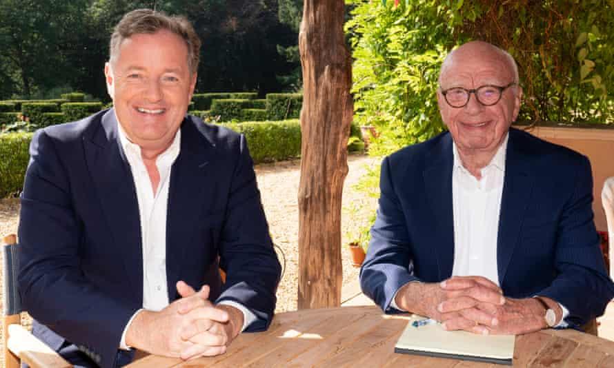 Piers Morgan con Rupert Murdoch
